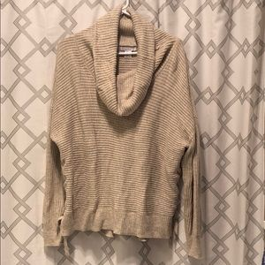 Tan Lace-up Side Sweater